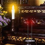 電気線香立て 仏具 線香立て 電池 おしゃれ 仏壇用 火を使わない線香 安心のお線香(中)