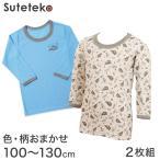 男児 色・柄おまかせ 長袖丸首シャツ 2枚組 (110cm〜130cm) (季節/AIR) (34089 034050)