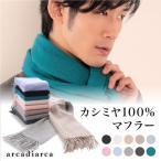 送料無料 arcadiarca カシミヤ100% メンズ 無地マフラー (フリーサイズ) (在庫限り)
