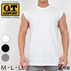 グンゼ サーフシャツ メンズ 綿100% 肌着 2枚組 M〜LL (G.T.HAWKINS GTホーキンス 男性 紳士 シャツ スリーブレス セット ノースリーブ M L LL) (取寄せ)