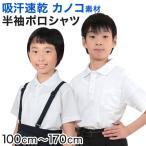 吸汗速乾 鹿の子素材 スクール用半袖ポロシャツ (100cm〜170cm)  (季節/ON/学用品) (148951 149932)