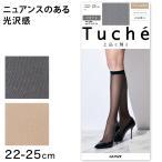グンゼ Tuche 上品な輝き シャイニーメッシュ柄 ひざ下丈 ショートストッキング (22-25cm) (季節)