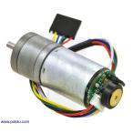 Pololu 34:1 金属ギヤードモータ 25Dx52L mm HP 12V 48CPRエンコーダ付き