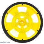 Solarbotics GMPW-Y 黄 エンコーダ縞付ホイール シリコンタイヤ