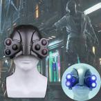 送料無料 高品質 Cyberpunk2077 サイバーパンク2077 ヘルメット マスク LED点灯 衣装 小道具 海外限定 映画グッズ レプリカ フリーサイズの画像