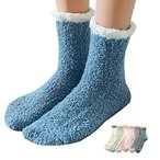 MgDa(メダ) もこもこ靴下 レディース ネコソックス 厚手 ルームソックス 通気 就寝ソックス 秋冬 フリーサイズ 6色6足セット (猫