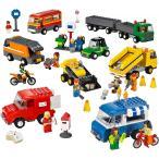 LEGO レゴ はたらく車セット 9333 ダンプ トラック 郵便車 ゴミ収集車 トレーラー