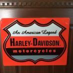 ショッピングハーレーダビッドソン ハーレーダビッドソン (Harley Davidson) サインプレート  色:オレンジ