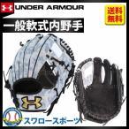 あすつく アンダーアーマー UA 軟式 迷彩 グラブ グローブ 内野手用 1323767