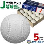 あすつく 送料無料 21%OFF ナガセケンコー 軟式 野球ボール J号球 5ダース (60個入) 小学生向け ジュニア 試合球 新公認球 J球 J-NEW