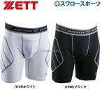 ZETT ゼット  野球 スライディングパンツ パッド付き ホワイト 1100  S BP210