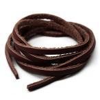 アレンジ自由自在本革100cmレザーコード幅3mm ハンドメイドに使えて便利 ブラウン革紐 茶 ain109