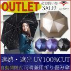 送料無料 アウトレット 日傘 折りたたみ傘 遮光100% uvカット 100% 晴雨兼用 自動開閉 ブランド SAIVEINA ひんやり傘 紫外線 対策 遮熱 訳あり セール