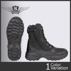 SESSLER(セスラ) TACTICAL SNIPER SIDE ZIP BOOTS BLACK (タクティカル スナイパー ブーツ サイドジップ ブラック)【中田商店】A-550