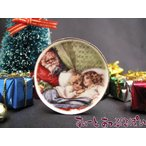 ミニチュア 【バーブさんの絵皿】 クリスマス サンタ&シスターズ 35mm BYBCDD409-2 ドールハウス用