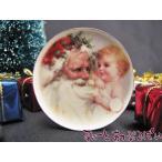 ミニチュア 【バーブさんの絵皿】 クリスマス サンタ&ベイビー 35mm BYBCDD409-3 ドールハウス用