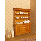 ミニチュア ミニチュア食器棚 クルミ色 MTCG147-10W ドールハウス用