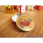 ミニチュア サンタクロースの丸缶 NY50070-1 ドールハウス用