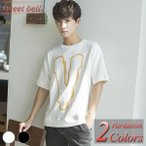 ショッピングカットソー カットソー メンズ Tシャツ 半袖 五分袖 七分袖 ボーダー 夏 大きいサイズ アメカジ ロゴT ロゴプリント プリント Vネック クルーネック ビッグシルエット
