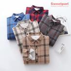 チェックシャツ 裏ボア シャツ ネルシャツ トップス カジュアル あたたか 裏ボアシャツ ゆったり 春冬 レディース