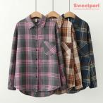 チェックシャツ ネルシャツ 大きいサイズ シャツ トップス カジュアルシャツ 長袖 チェック柄 春物 春秋 レディース