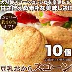 豆乳おからスコーン10個 炭水化物好きダイエッター必見 カロリー約30%オフ!!