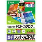 サンワサプライ カラーレーザー用フォト光沢紙・厚手 LBP-KAGNA3N