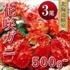 花咲ガニ500g-580g×3尾 ボイルM 北海道根室産直 花咲蟹 お土産