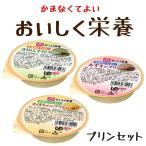 介護食 レトルト おいしく栄養 プリンセット 3種各1個 区分4