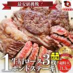 焼肉 セット 牛肉 肉 1ポンド ステーキ 3枚セット 牛肩ロース 450g×3 ブロック ワンポンド メガ盛り 熟成肉 BBQ バーベキューやきにく *当日発送対象