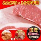 豚肉 肉 国産 ロース とんかつ トンテキ 100g×2 冷凍食品 お取り寄せ グルメ