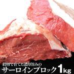 サーロイン ブロック 1kg ステーキ用 赤身 オーストラリア産 プレゼント リッチな 赤身 贅沢 牛肉 送料無料