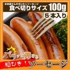 ソーセージ ウインナー 100g 惣菜 ジューシー 粗挽き 粗びき あらびき ポーク 豚 バーベキュー 焼肉 焼くだけ 弁当*当日発送対象