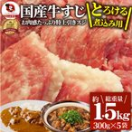 牛肉 肉 お肉屋さんの 国産 牛スジ 牛 生 すじ 煮込み用 スジ たっぷり 1.5kg  訳あり 送料無料