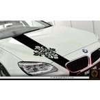クロスフロントカーステッカー1車用■ワイルドスピードユーロカスタムバイナル