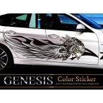 女神カーステッカーカラー32■翼バイナルグラフィック車ワイルドスピード系デカール