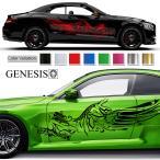 女神カーステッカー141■バイナルグラフィック車ワイスピ系限定カスタム かっこいいデカール 14色から選べる