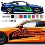 ラインカーステッカー180■バイナルグラフィック車ワイスピ系 かっこいいデカール 14色から選べる
