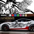 女神カーステッカーwa11■バイナルグラフィック車ワイルドスピード系デカール かっこいい 14色から選べる