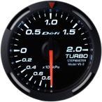Defi デフィ Racer Gauge レーサーゲージ Gauge レーサーゲージ Φ52シリーズ ターボ計 -100kPa〜+200kPa ホワイト