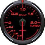 【ポイントアップ 4/15 23:59まで】 Defi デフィ Racer Gauge レーサーゲージ Gauge レーサーゲージ Φ60シリーズ ターボ計 -100kPa〜+200kPa レッド