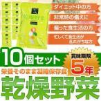 栄養そのまま凝縮保存食「乾燥野菜」(1袋:10g×10袋)〔10個セット〕