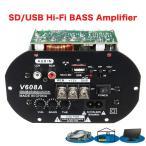 ハイパワーバスカーHi-Fiサブウーファーアンプボードモジュール 80W 110V-220V