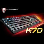 MOTOSPEED K70 104キー eスポーツ ゲーミング USB キーボード 7色バックライト