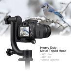 Canon Nikon Sony 一眼レフカメラ対応 パノラマジンバル 三脚ヘッド