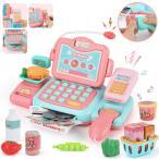 レジスターおもちゃ 英語版 スキャンでおしゃべり マジカル ショッピング マート お買い物 おもちゃ 女の子 男の子 知育玩具 ピンク 送料無料