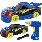 組み立ておもちゃ 組み立て車 26ピース おもちゃ レースカー組立セット DIY 工具 子供用電動ドリル 光と音の 知育玩具 クリスマス プレゼント