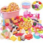 65点 おままごと キッチン セット 子供 知育玩具 寿司 果物 海鮮 ハンバーグ コンロ ままごと  調理用具 ままごと セット 男の子 女の子