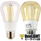 【2年保証】LED電球 E26 電球色 調光器対応 8W 60W相当 クリア電球 BD-1026C-Clear