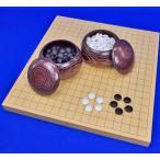 囲碁セット ヒバ1寸ハギ卓上碁盤セット(ガラス碁石新生梅・栗碁笥大)